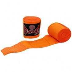 Dragon bandaże bokserskie 3m pomarańczowe